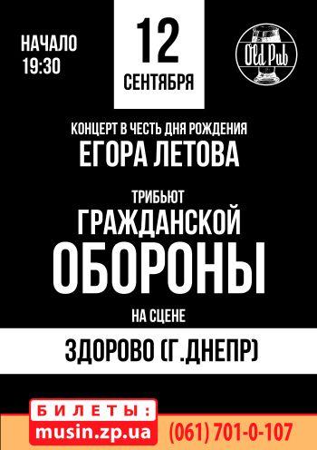 Праздничный концерт в честь дня рождения Егора Летова