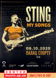 STING.MY SONGS TOUR 2020
